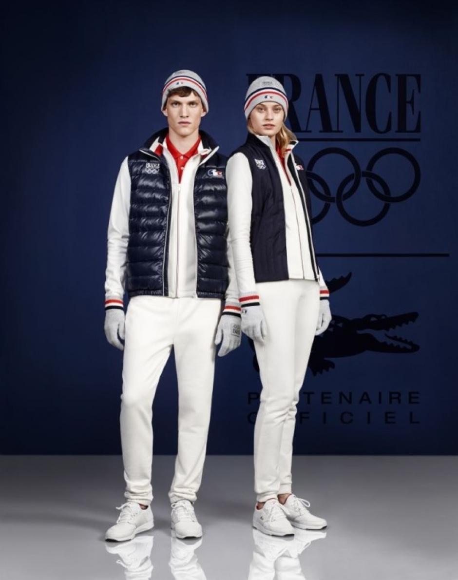 Otro diseño de la marca Lacoste para la delegación francesa que participará en Sochi. Foto Lacoste