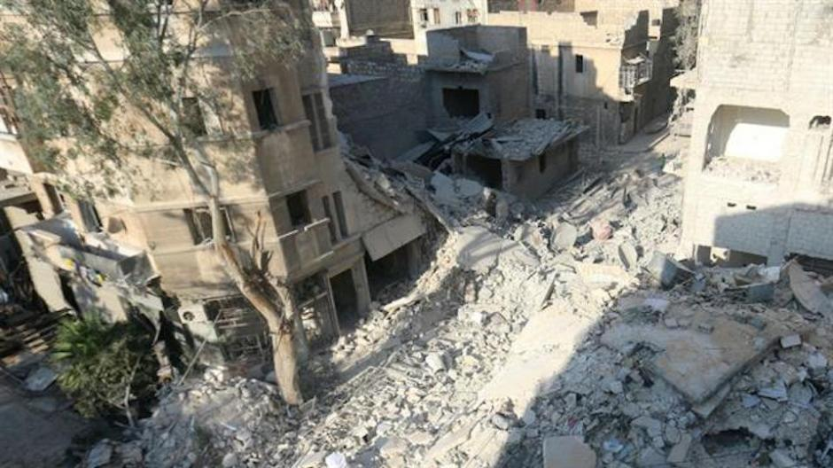 Estos son los escombros de la casa de Omran Daqneesh. (Foto: lanacion.com.ar)