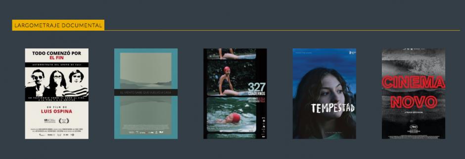 Estos son los nominados a mejor largometraje. (Foto: Premios Fenix oficial)