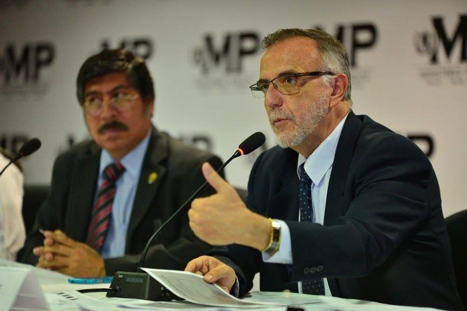 Durante la conferencia de pernsa la CICIG informó sobre las capturas de este miércoles. (Foto: Wilder López/Soy502)