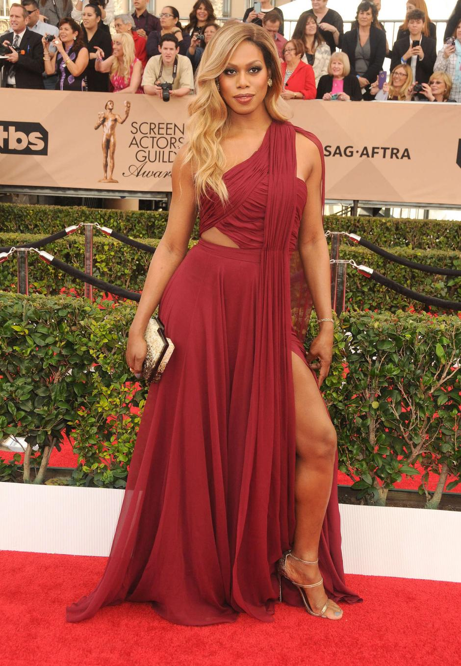 La actriz Laverne Cox llega a la 22ª edición de los SAG Awards o Screen Actors Guild Awards. (Foto:EFE / Paul Buck)