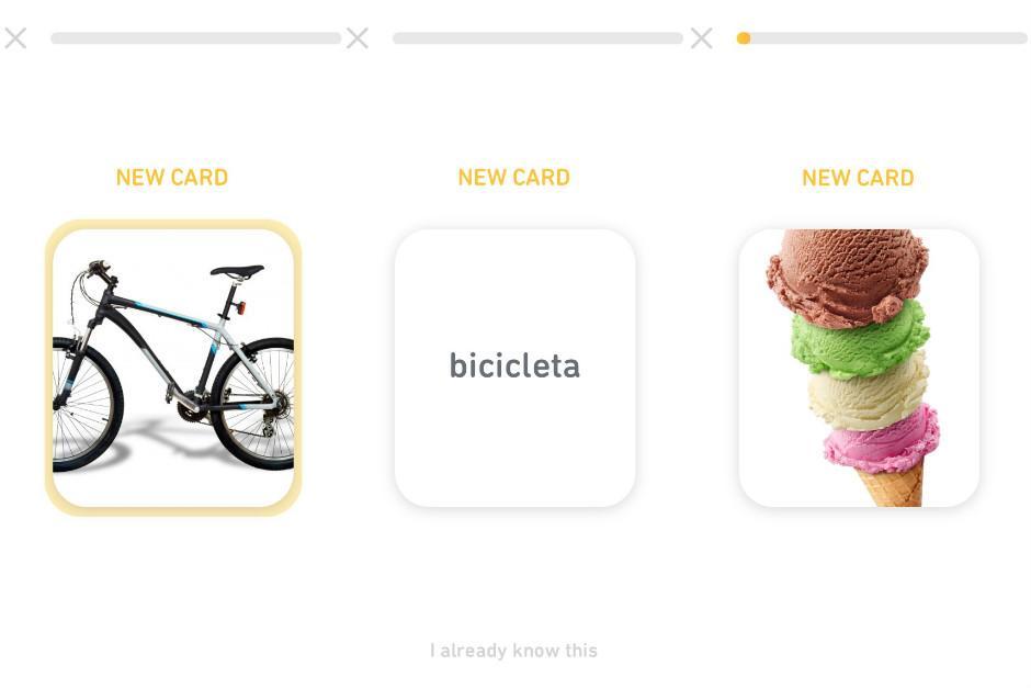 La app te permite practicar de varias maneras las lecciones de una manera divertida. (Foto: Captura Pantalla)