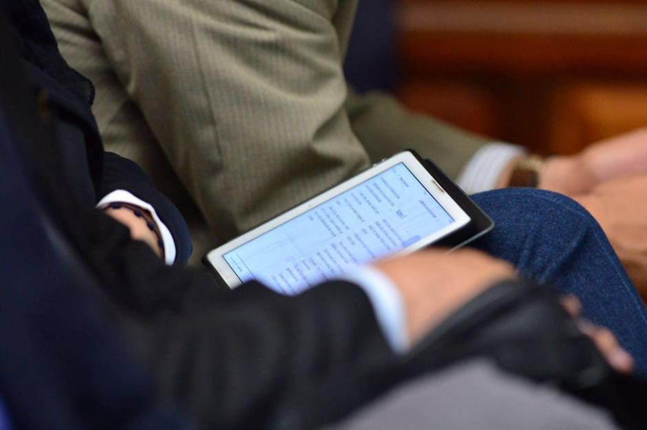 Un pasaje bíblico leía la exvicepresidenta. (Foto: Jesús Alfonso/Soy502)