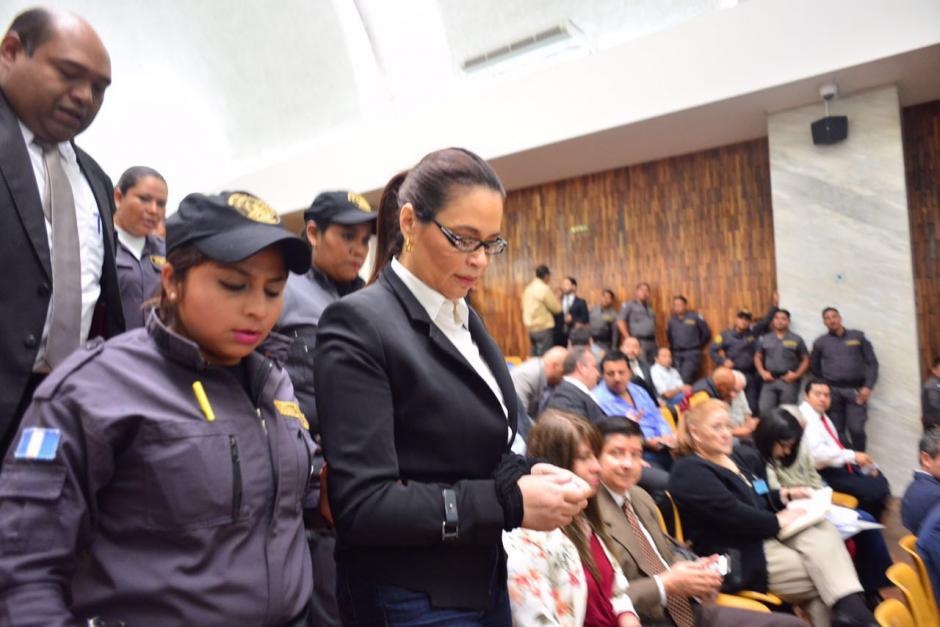 Baldetti estuvo ausente durante gran parte de la audiencia. (Foto: Jesús Alfonso/Soy502)