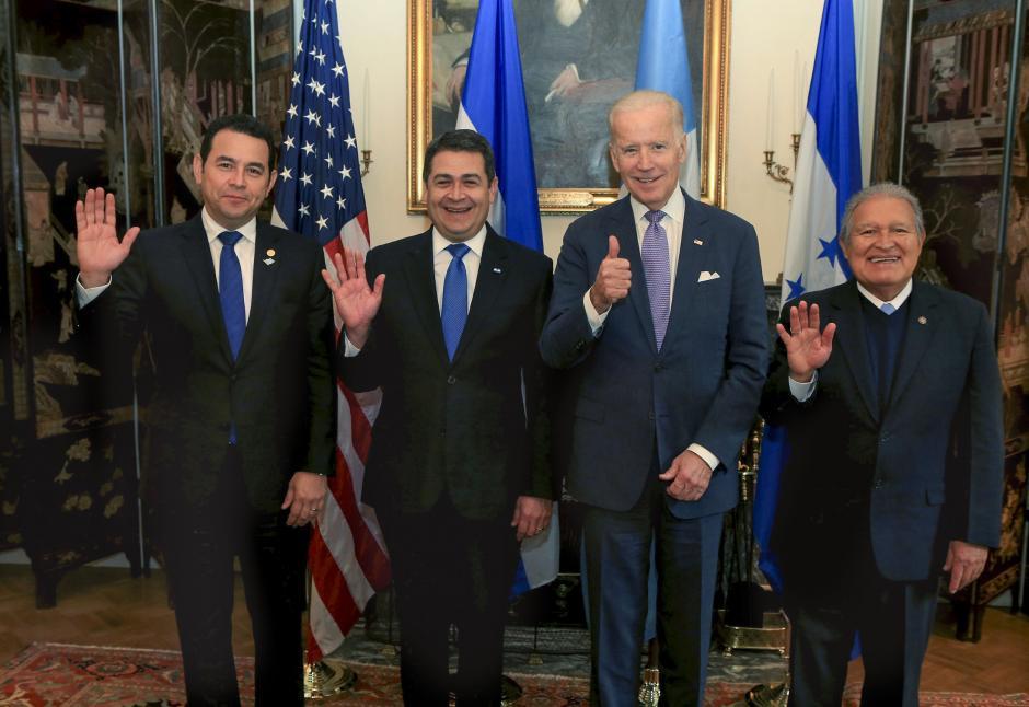 El Vicepresidente de EE.UU. recibió en la Blair House a los mandatarios del Triángulo Norte. (Foto: Gobierno)
