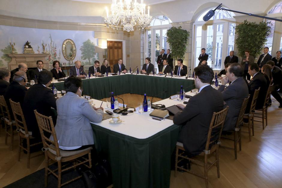 Es el segundo encuentro después de que coincidieran en la toma de posesión de Jimmy Morales. (Foto: Gobierno)