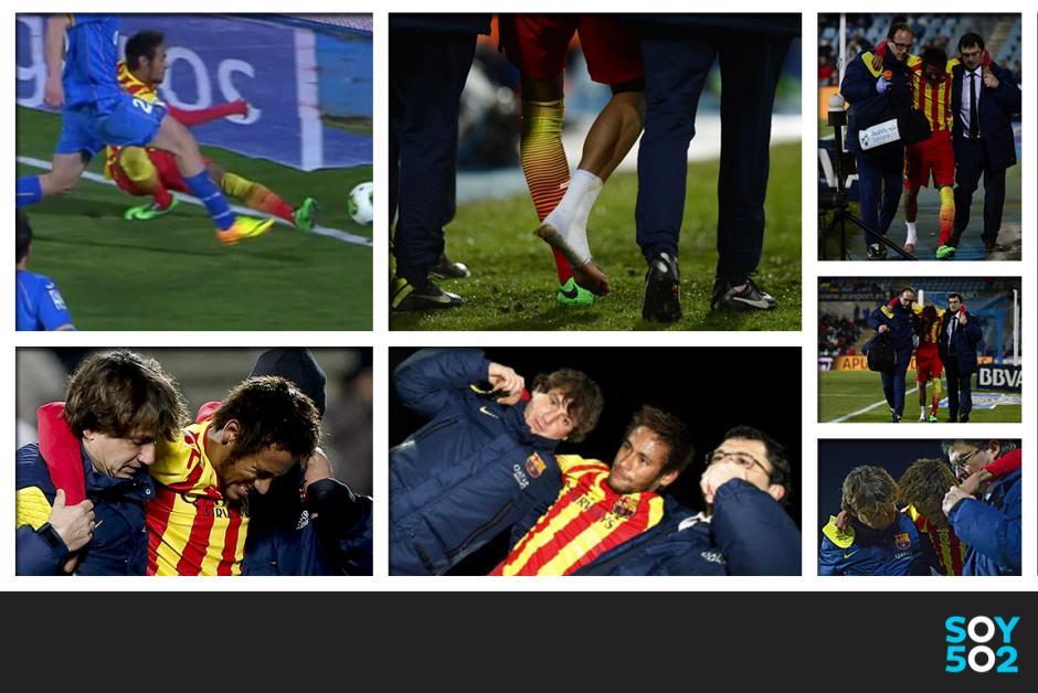 Neymar tiene un esguince en el tobillo derecho y deberá esperar al examen médico para saber cuanto tiempo le tomará su recuperación