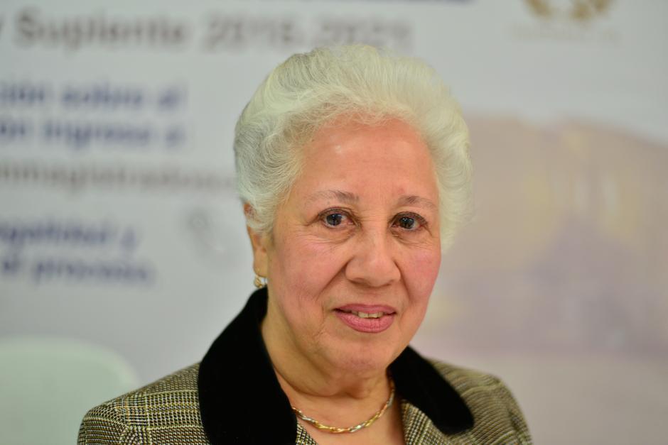 La exmagistrada de la CSJ, Leticia Stella Secaira Pinto cuenta con 40 años de laborar en el Organismo Judicial. (Foto Wilder López/Soy502)