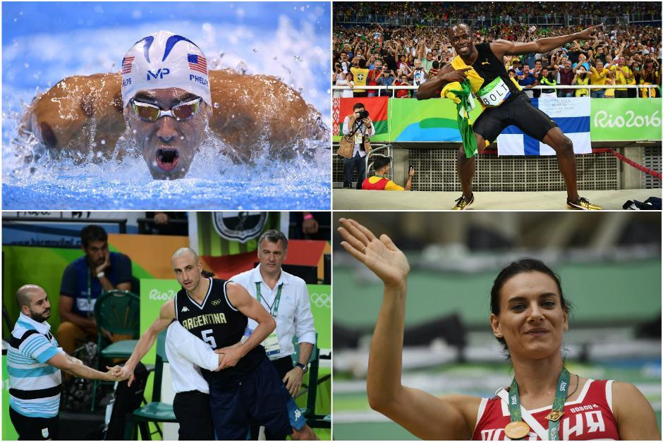 Cuatro leyendas de los Juegos Olímpicos participaron por última vez en las justas deportivas más importantes del mundo. (Fotos: AFP)
