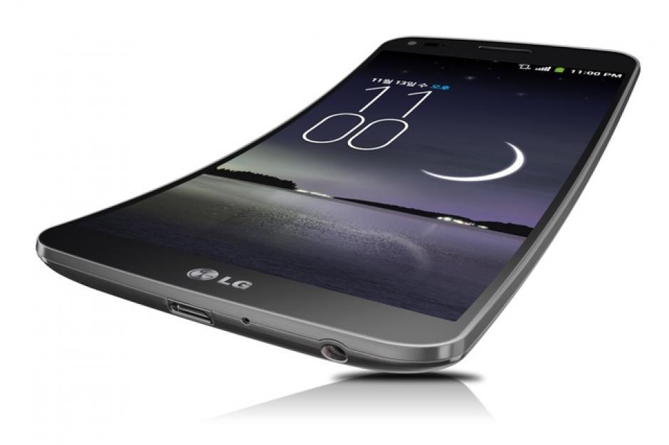 El teléfono inteligente de LG con forma curva (Foto: LG)