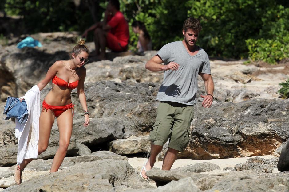 según rumores Miley y Liam ya se casaron en secreto. (Foto: popsugar.com)