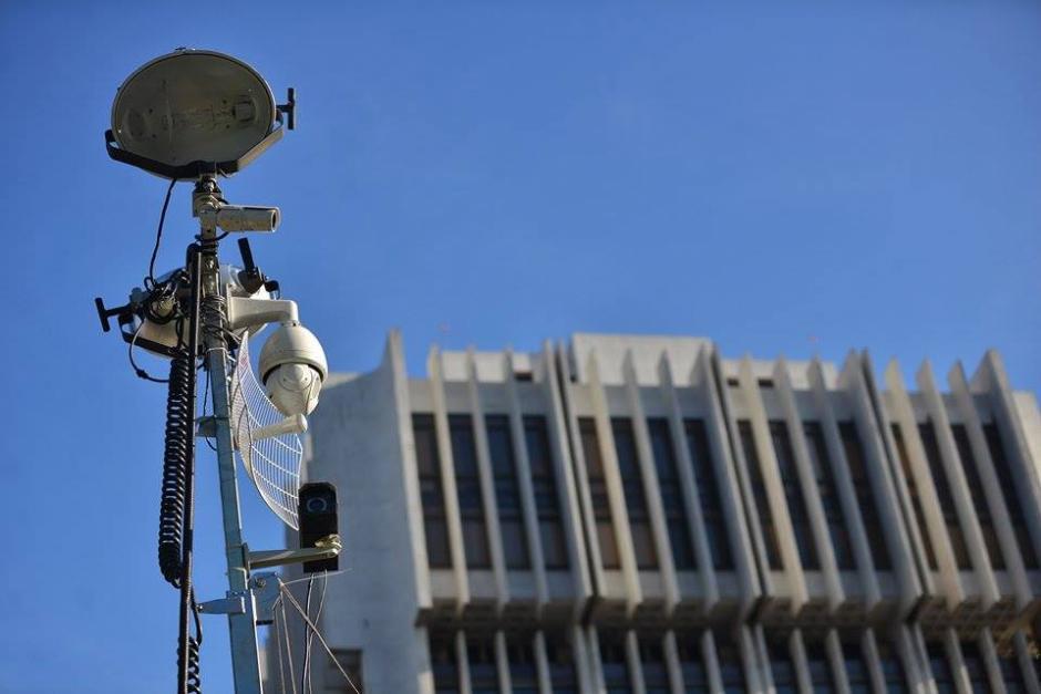 Las cámaras de la Policía Nacional Civil (PNC) del centro de monitoreo fueron instaladas en la CSJ. (Foto: Wilder López/Soy502)