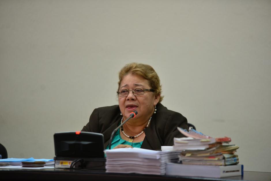 Marta Sierra Stalling, jueza que estuvo a cargo del inicio del proceso. (Foto: Archivo/Soy502)
