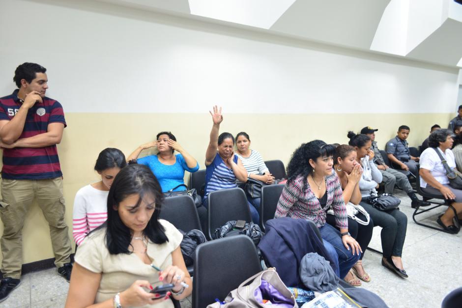 Familiares de los sindicados durante la audiencia. (Foto: Archivo/Soy502)