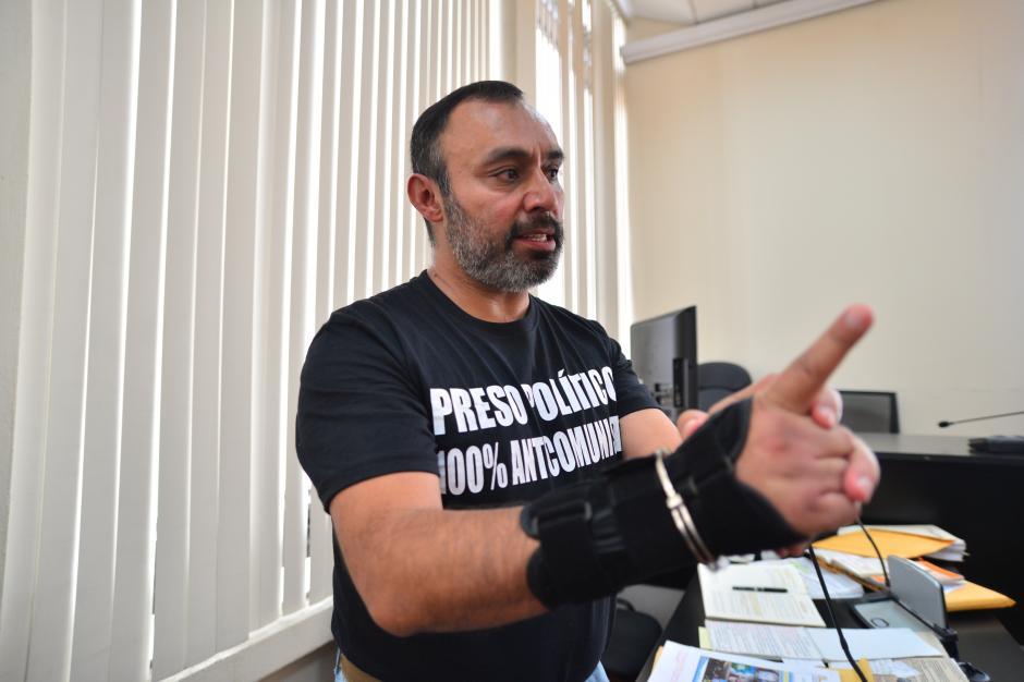 Lima Oliva se consideraba un preso político. (Foto: Archivo/Soy502)