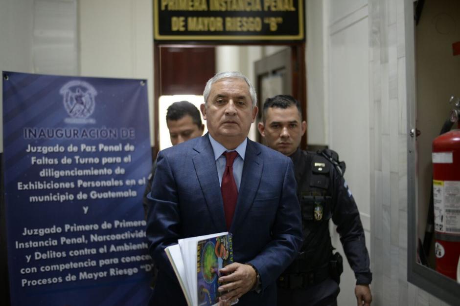 Sin embargo, la defensa de Otto Pérez ya preparó otro recurso para intentar frenar la audiencia. (Foto: Wilder López/Soy502)