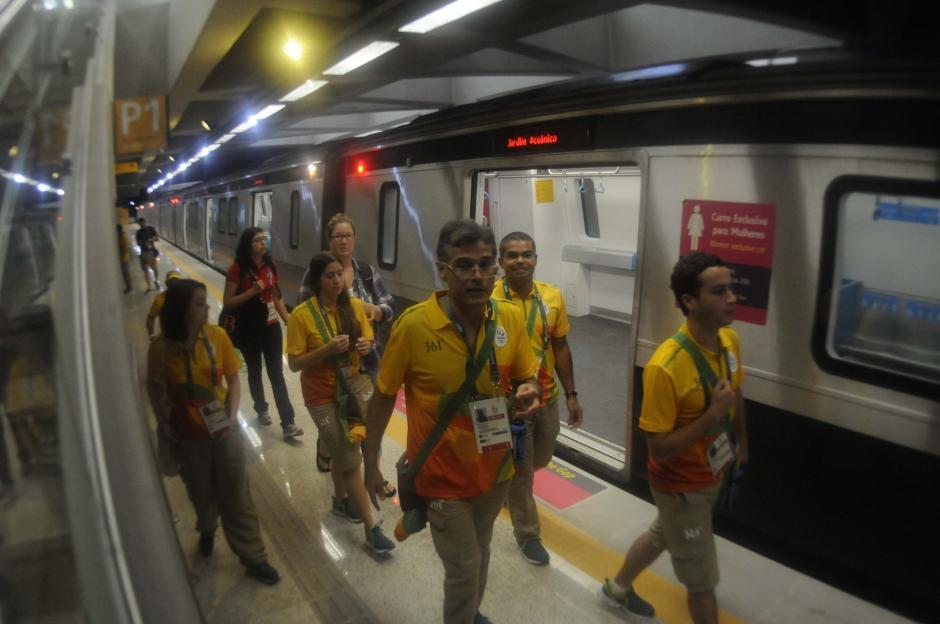 Los voluntarios y visitantes de los Juegos Olímpicos podrán usar desde esta semana una nueva línea de metro. (Foto: Pedro Pablo MIjangos/Soy502)