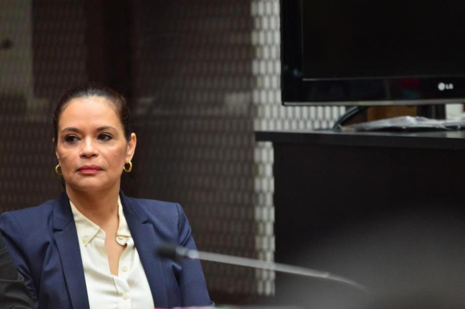 Roxana Baldetti durante la audiencia de primera declaración donde se presentan escuchas telefónicas. (Foto: Jesús Alfonso/Soy502)
