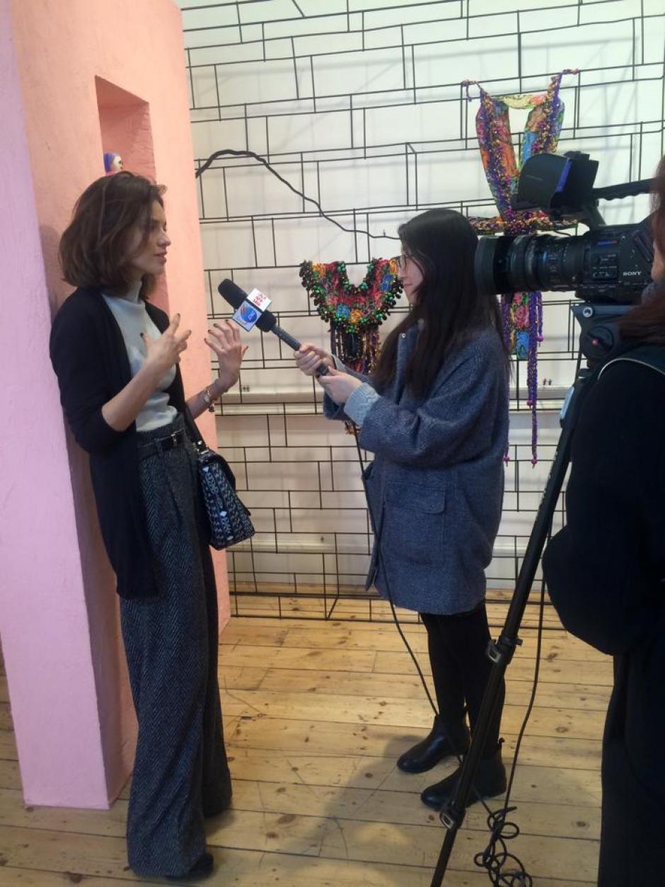 Los involucrados fueron entrevistados por medios especialistas en moda. (Foto: Ceciclia Santamarina)