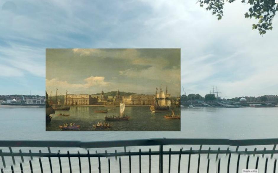 Vista de Greenwich desde El Río (1750). Pintura de Canaletto. (Foto: Visual News)