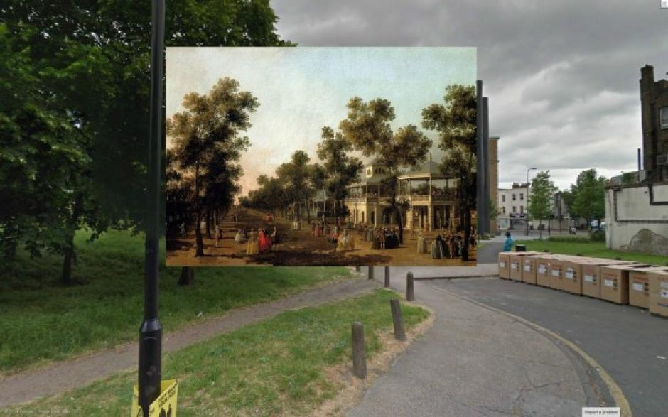 Vista de The Grand Walk (1751). Pintura de Canaletto.  (Foto: Visual News)