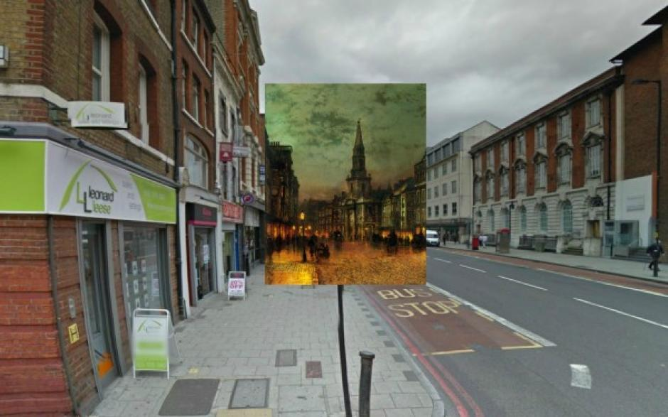 Blackman Street (1885). Pintura de Atkinson Grimshaw. (Foto: Visual News)