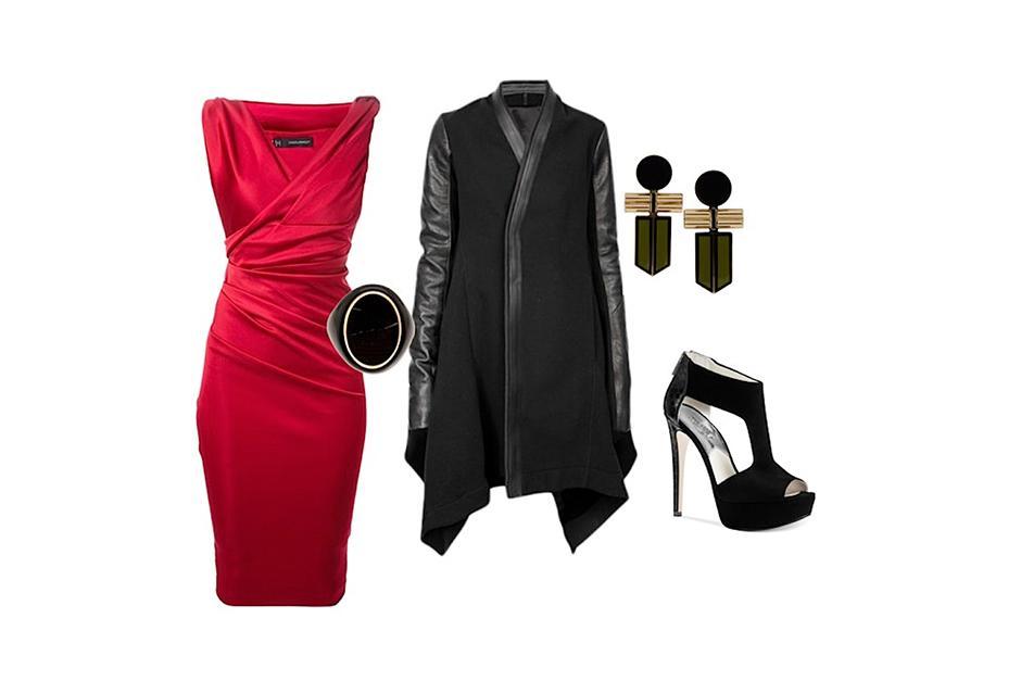 El rojo es símbolo navideño por excelencia, si quieres mostrar tu amor por la época, este es el look para tí. (Foto: Polyvore/Seletenango)