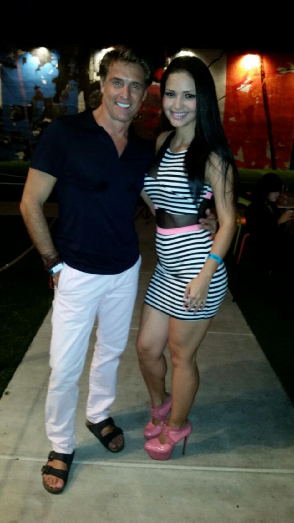 Junto a Juan Soler con quien Lorena Aros compartió en una telenovela. (Foto: Lorena Aros)