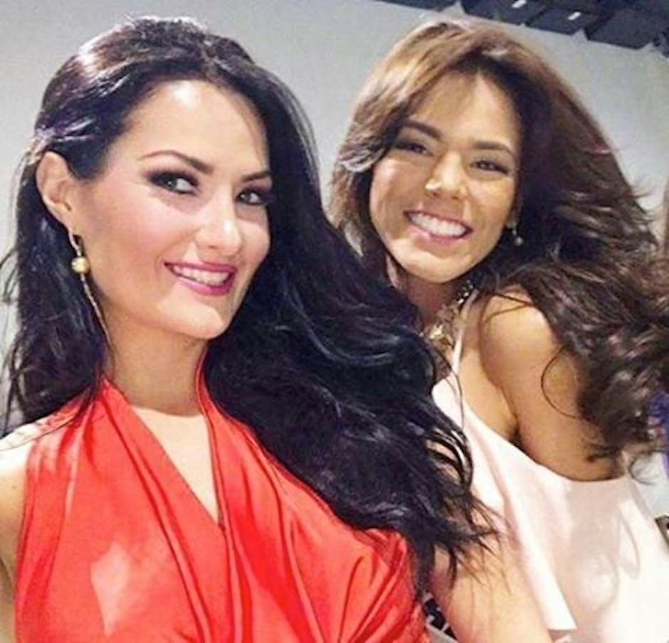 Figueroa se encontró con Miss Guatemala, Virginia Argueta y aprovechó el momento para hacerse una selfie. (Foto: Instagram)