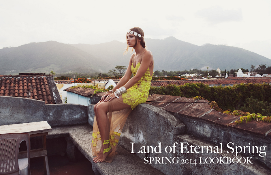 "La firma estadounidense ""For love and lemons"", de ropa para chicas, se inspiró en Guatemala para crear su colección ""Primavera 2014"". (Foto: For love and lemons)"