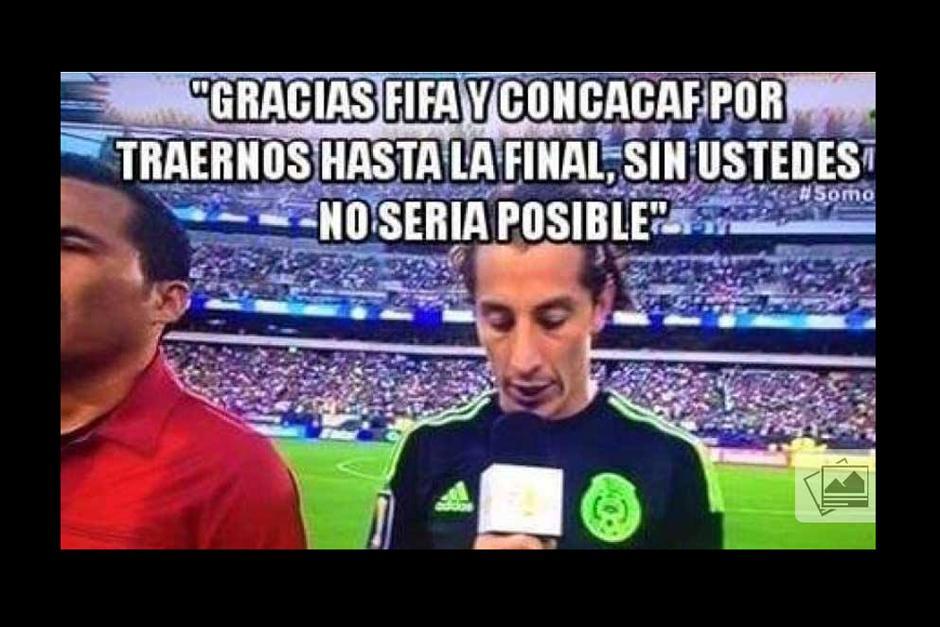 """Un """"meme"""" sobre el discurso inicial de Guardado durante la final de la Copa Oro. (Foto: laprensagrafica.com)"""