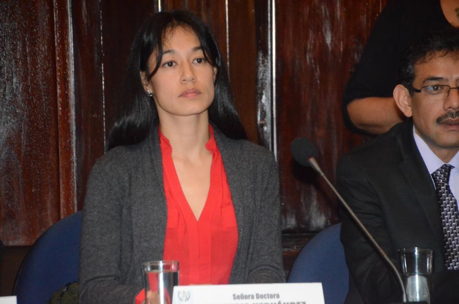 """Lucrecia Hernández Mack ofreció """"ordenar la casa"""". (Foto: cortesía José Castro)"""