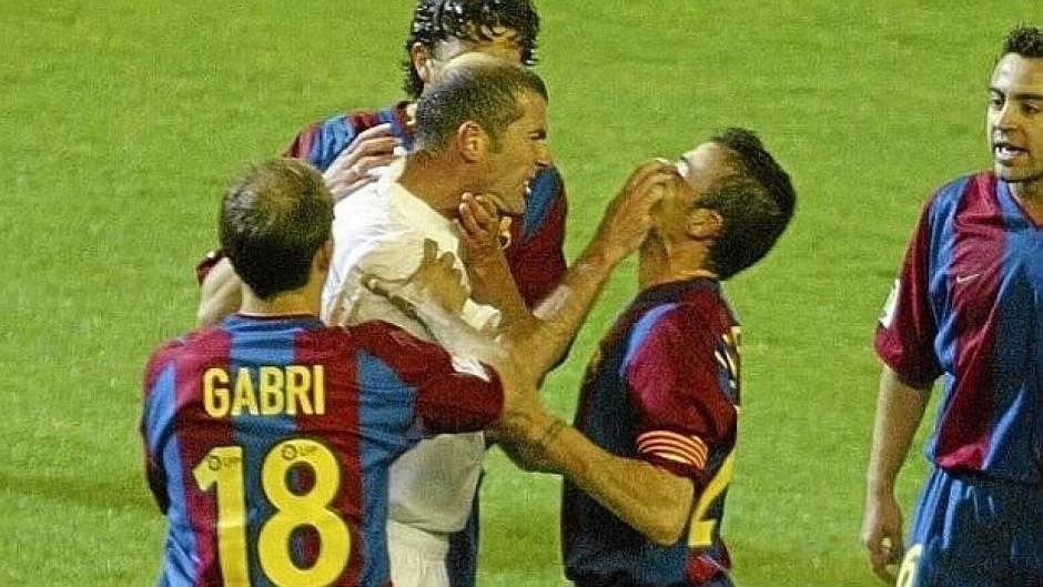 Zinedine Zidane pelea con Luis Enrique foto