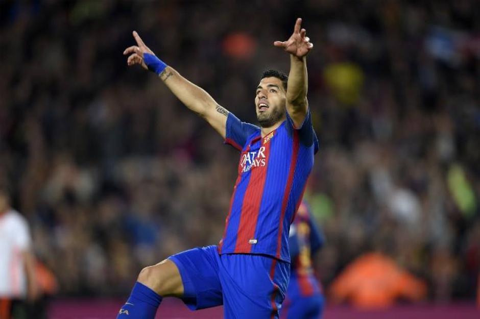 Luis Suárez marcó el primer gol del Barcelona. (Foto: AFP)
