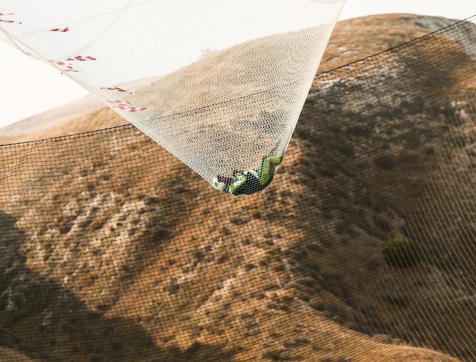Aikins alcanzó en su salto una velocidad de 193 kilómetros por hora. (Foto: EFE)