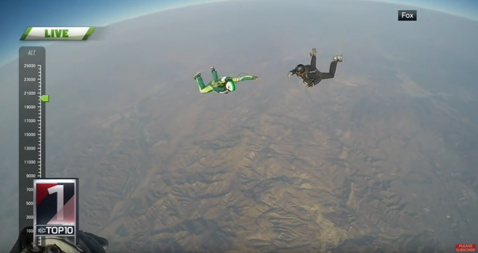 Luke Aikins saltó de un avion sin paracaídas. (Captura de pantalla: SC Live)