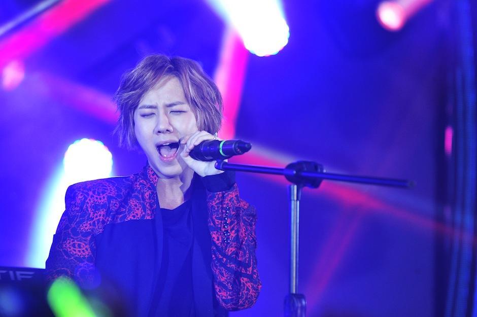 Yun mostró su pasión por la música. (Foto: Abel Lima/Nuestro Diario)