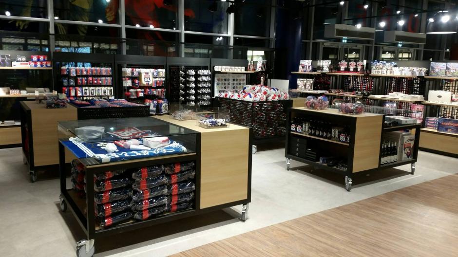El recinto deportivo cuenta con su respectiva tienda de souvenirs. (Foto: Facebook/Stade des Lyon)