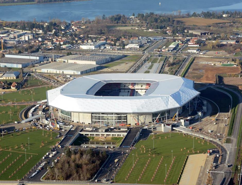 Vista aérea del también conocido como Stades des Lumieres. (Foto: Facebook/Stade des Lyon)