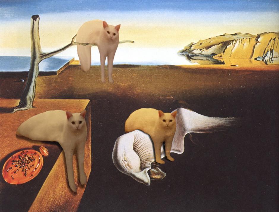 Arte de Dalí con el gato. (Foto: mashable.com)