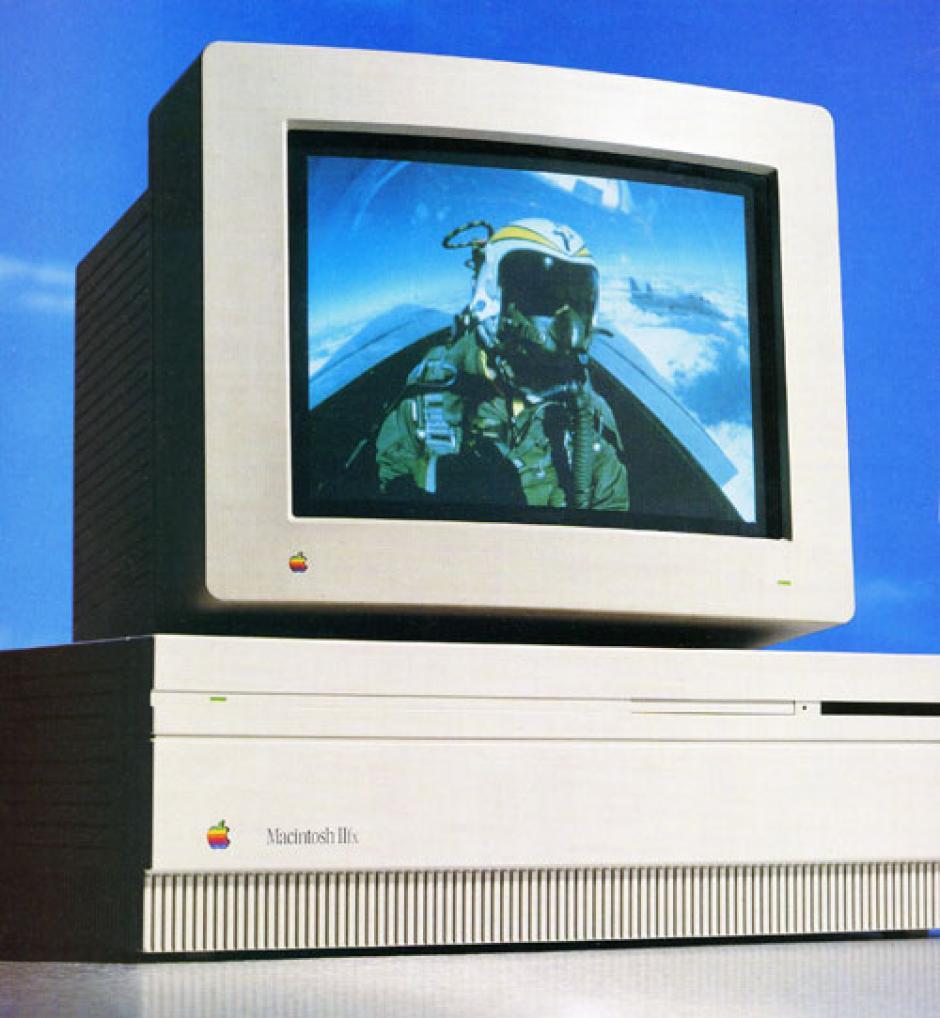 Mac IIfx. Fue lanzada en 1990 y costaba entre 9 mil y 12 mil dólares. Era la computadora personal más rápida del momento.