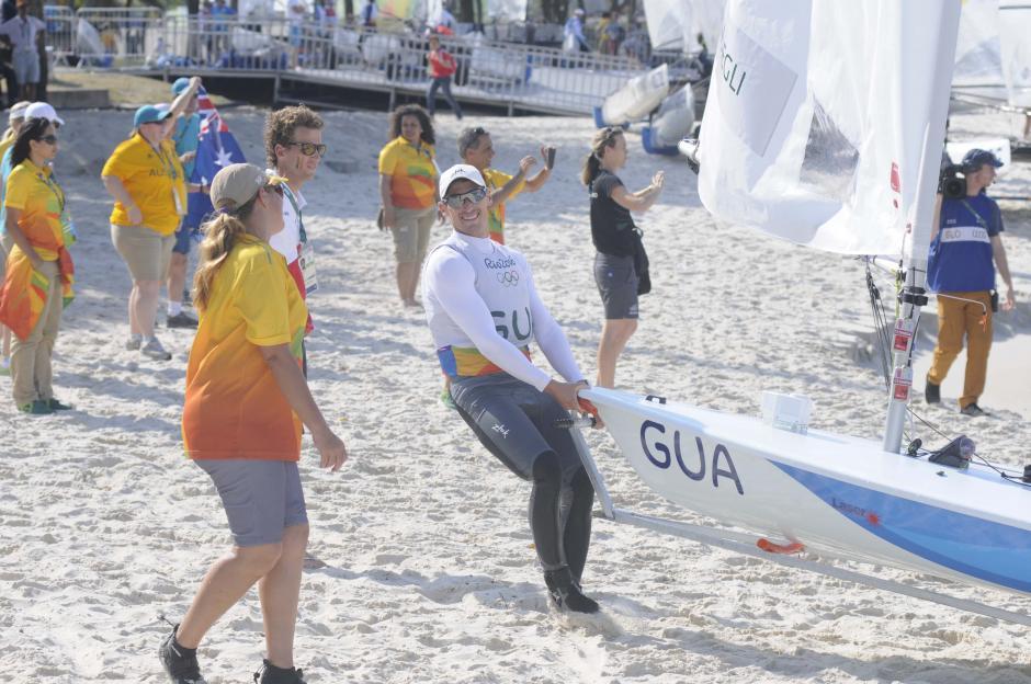 Maegli disfrutó su última regata que lo posicionó octavo lugar en los Juegos. (Foto: Aldo Martínez/Enviado de Nuestro Diario)