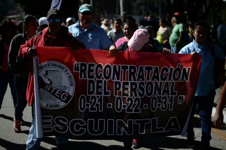 Se prevé que la protesta finalice en las afueras del Congreso de la República. (Foto: Wilder López/Soy502)