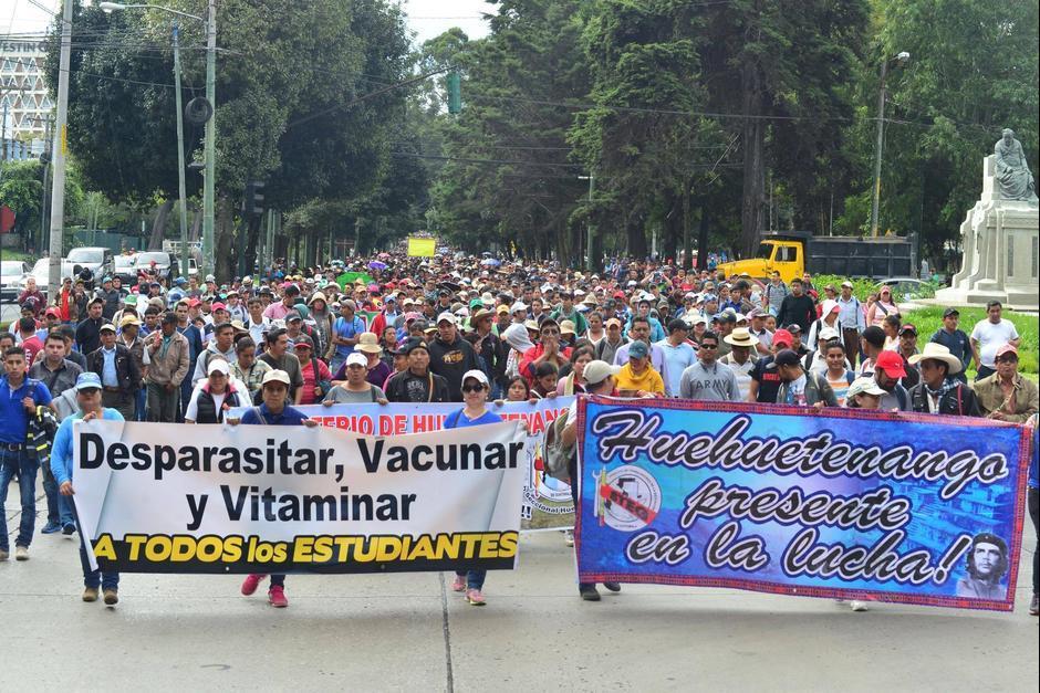 La asamblea nacional del Magisterio convocó a una movilización en la ciudad este jueves. (Foto: Archivo/Soy502)