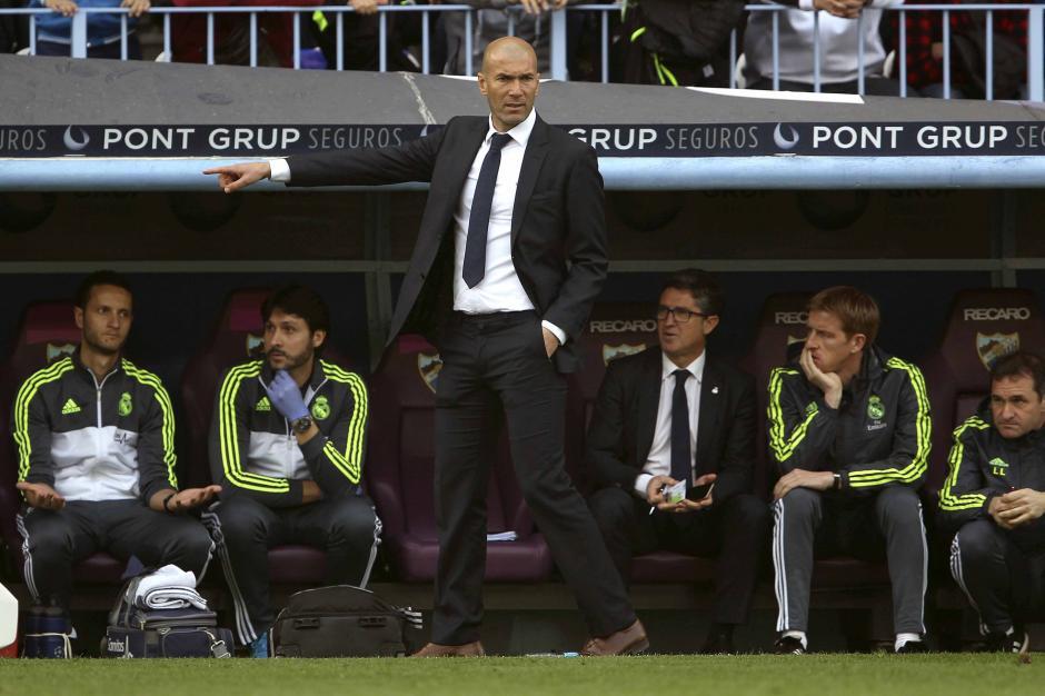 Zidane sumó su segundo empate en la Liga española, tras haber ganado a Roma en la Champions.  (Foto: EFE)