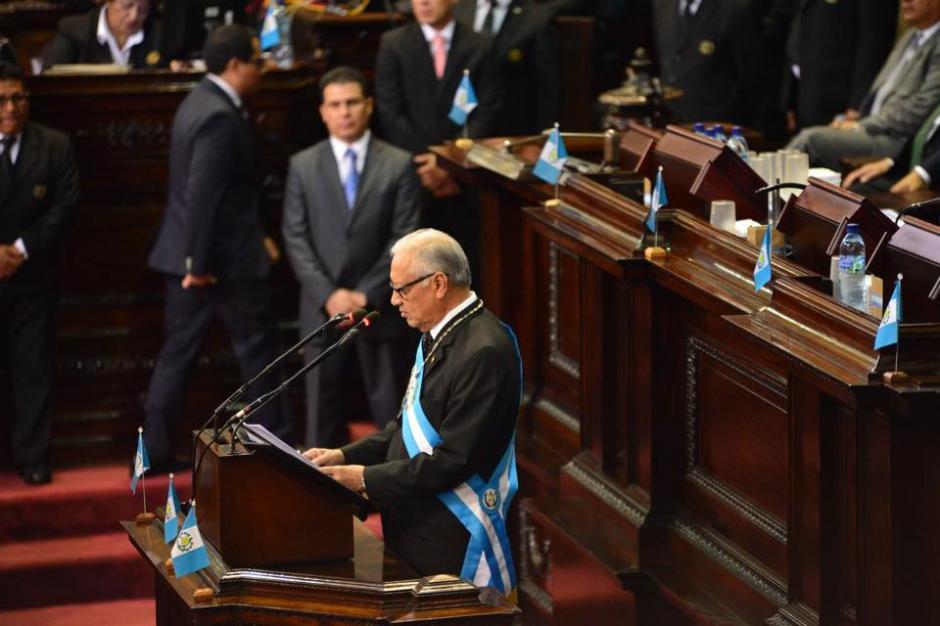 El discurso de Maldonado en el Congreso duró poco más de 25 minutos. (Foto: Jesús Alfonso/Soy502)