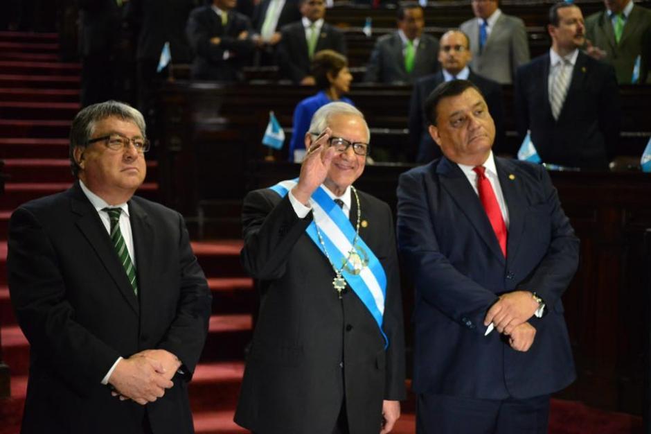 Alejandro Maldonado tomó juramento en el Congreso de la República como nuevo Presidente de Guatemala. (Foto: Jesús Alfonso/Soy502)