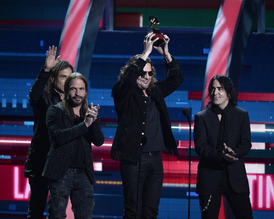 """Maná recibió el reconocimiento a """"Mejor Álbum Pop Rock"""" en la 16 edición de los Latin Grammy. (Foto: Paul Buck/EFE)"""