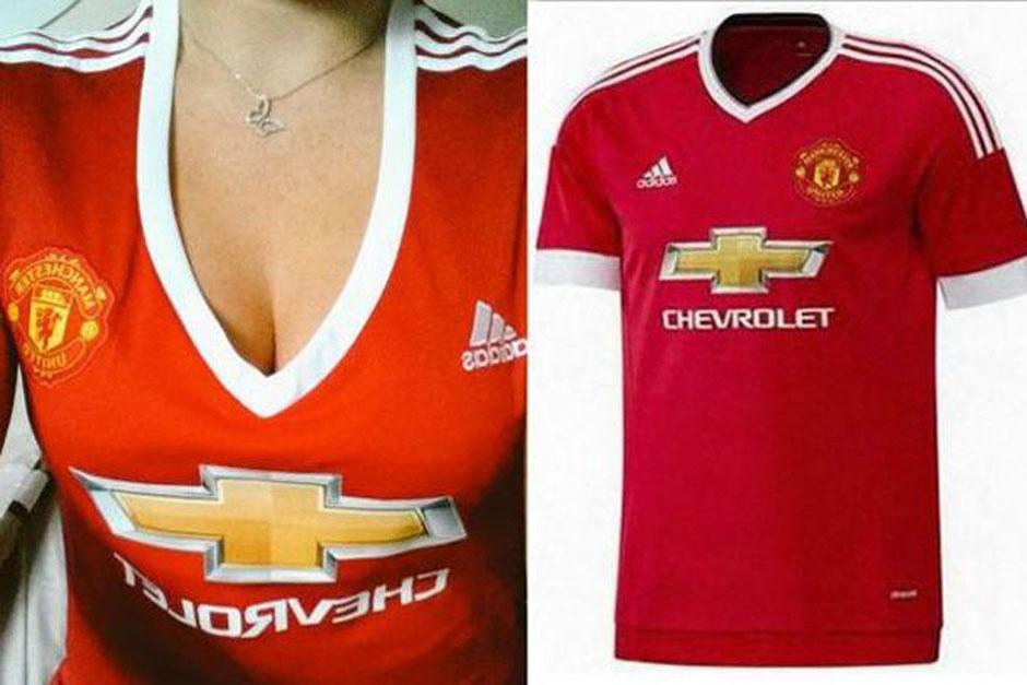El nuevo diseño de la camisola para mujer del Manchester United tiene un escote que ha sido criticado duramente en redes sociales