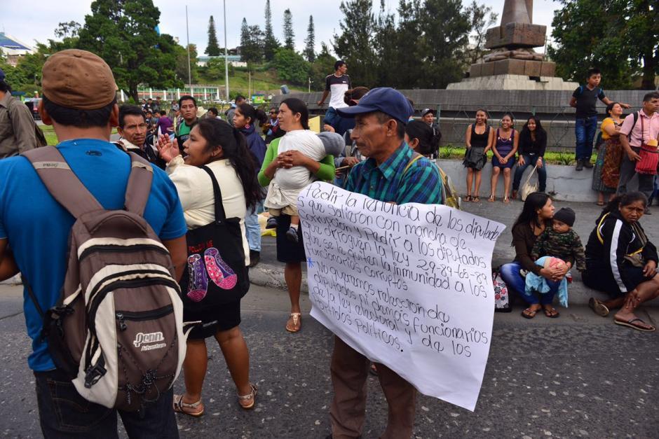 La manifestación fue organizada por el Comité de Desarrollo Campesino. (Foto: Jesús Alfonso/Soy502)